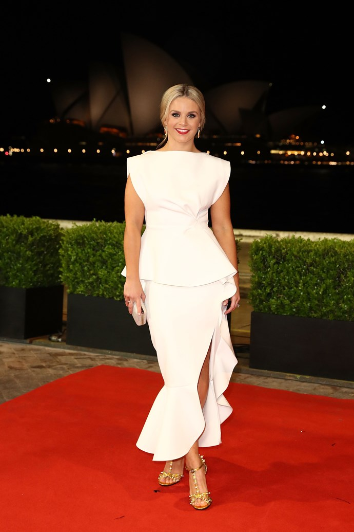 We're loving the silhouette of Emma Freedman's gorgeous get-up.