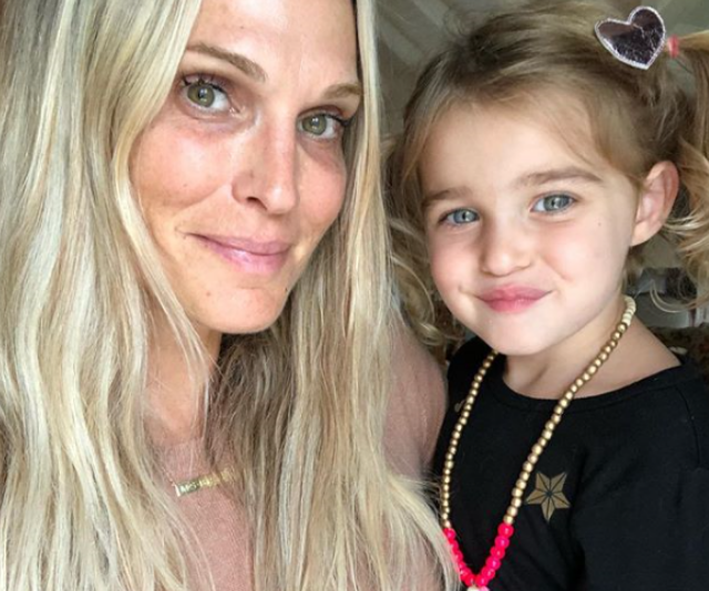 """Model and actor, Molly Sims honoured her two-year-old daughter, Scarlett May, writing, """"Happy #nationaldaughtersday Scarlett May, I love you to the moon because every day I'm reminded you were sent to me from the stars."""""""