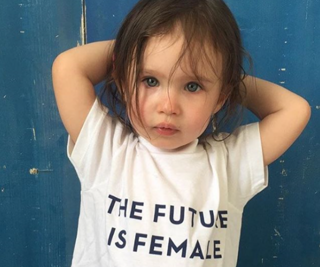 "[Game of Thrones actor, Lena Headey](https://www.nowtolove.com.au/health/mind/lena-headey-undiagnosed-postpartum-depression-38981|target=""_blank"") aka Cersei shared an image of daughter, three-year-old Teddy wearing a 'The future is female' shirt alongside the caption, ""To all the daughters, let us keep speaking out, pushing through, lighting the way for you to raise your voices, loud and powerful. I cannot wait to see what you do in this world, for yourselves and others. #believewomen"""