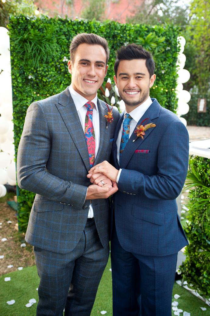 """**AARON & DAVID (2016 - Present)**  **TV's first legal same-sex wedding gave Scott and Charlene a run for their money.**   It took a bit of time for this relationship to blossom, but Aaron (Matt Wilson) and David's (Takaya Honda) journey has been more than just a storyline to fans.  Although the couple had a number of hurdles in the lead up to the wedding, the ceremony proved to be one of the most joyous and emotional episodes in [*Neighbours* History](https://www.nowtolove.com.au/celebrity/tv/neighbours-same-sex-wedding-episode-50973