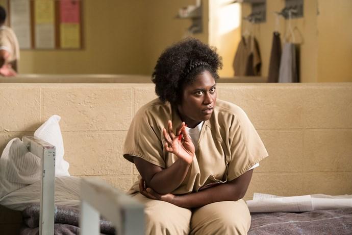 Danielle as Tasha 'Taystee' Jefferson.
