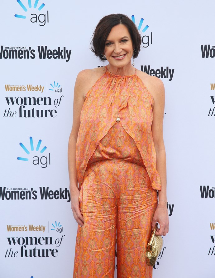 Cass on the *Australian Women's Weekly* Women of the Future Awards 2018 red carpet.
