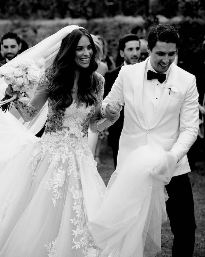 Monika and husband Alesandro tied the knot in March 2018.