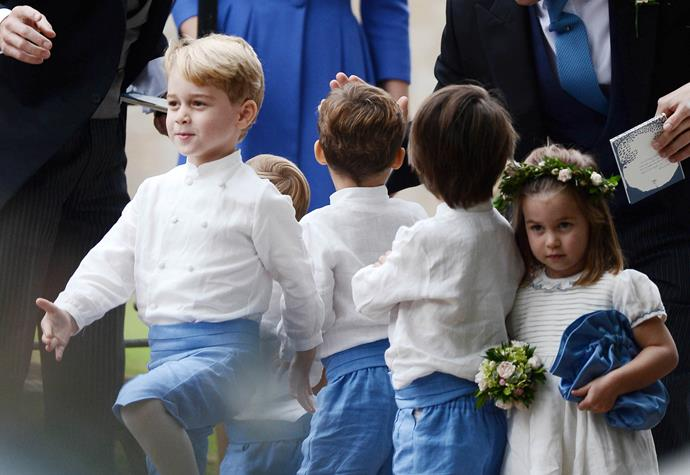 The royal siblings were part of the bridal party for family friend Sophie Carter. *Image: Australscope*