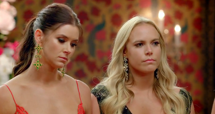 Britt and Cass were close in the mansion, but their last night together was tense.