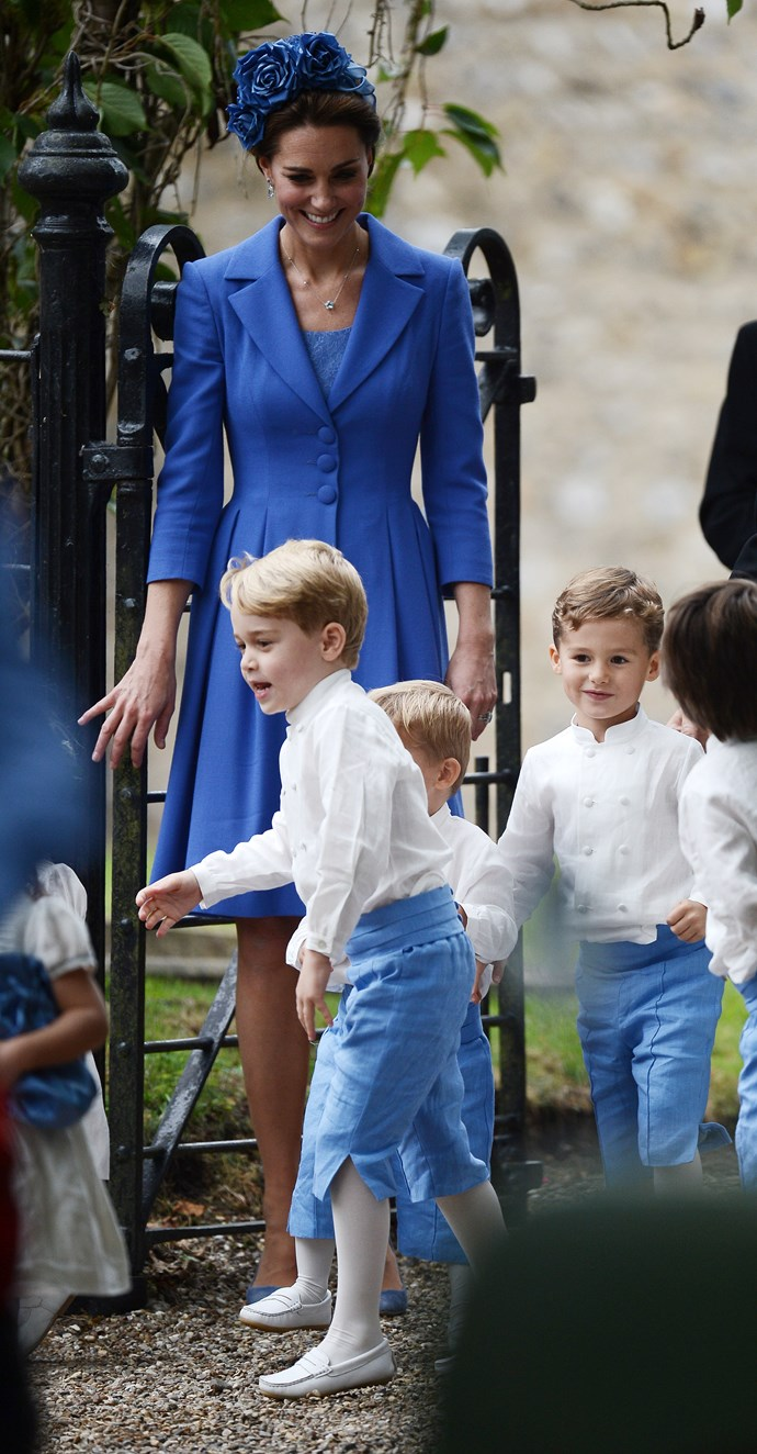 Kate was clearly amused by her eldest son's behaviour. *Image: Australscope*