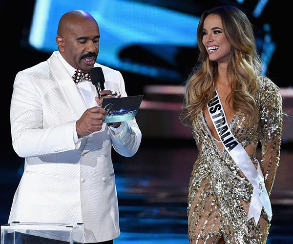 Monika made it to the top five of the Miss Universe competition in 2015.