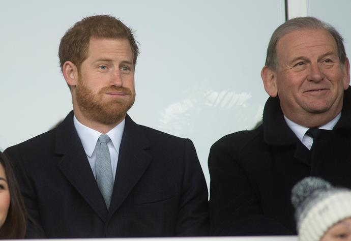 Prince Harry was reportedly red-faced when he ran into a former love interest.