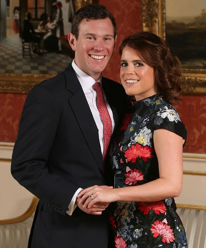 Princess Eugenie with fiance and boyfriend of seven years Jack Brooksbank.