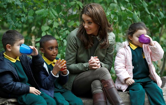 Children attend the forest school to learn more about the natural world.