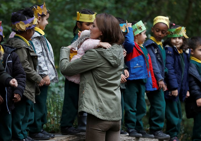 The visit was Duchess Catherine's first solo appearance since giving birth to Prince Louis.
