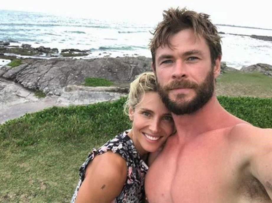 Chris and his wife of eight years Elsa Pataky.