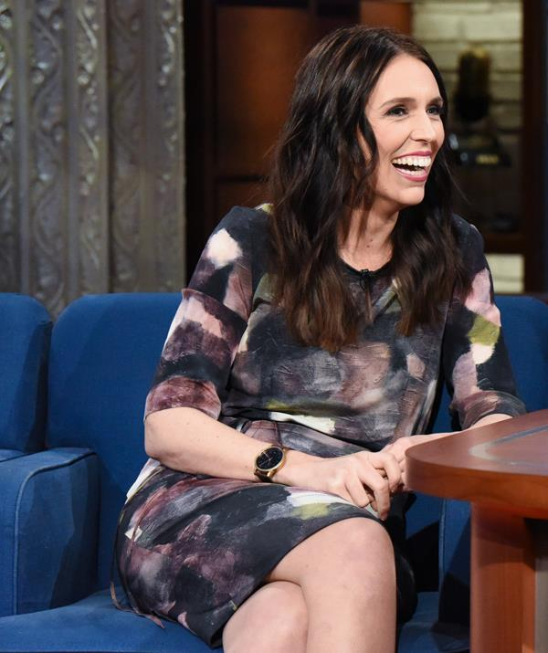 Jacinda appeared on a late night TV talk show after wowing the world with her UN speech.