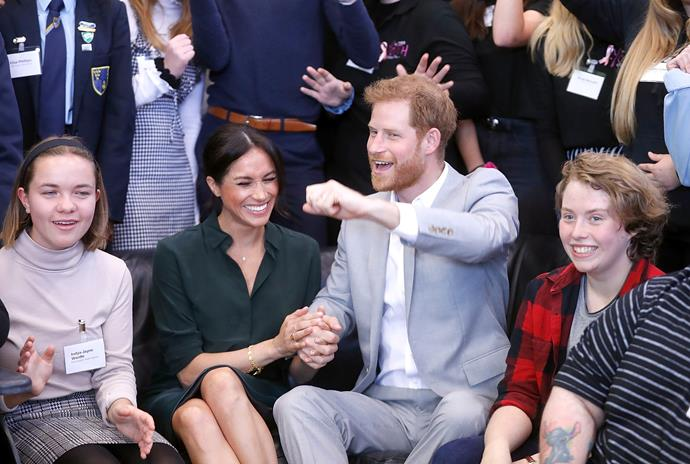 The couple couldn't have looked happier together as they visited a youth centre in Sussex.