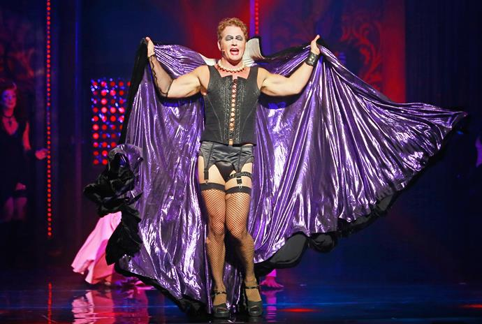 Craig McLachlan as Frank N Furter during a *Rocky Horror Show* media call in 2015. Source: Getty Images