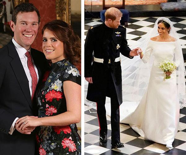 Eugenie was forced to put her wedding on hold so that Harry and Meghan could tie the knot first.