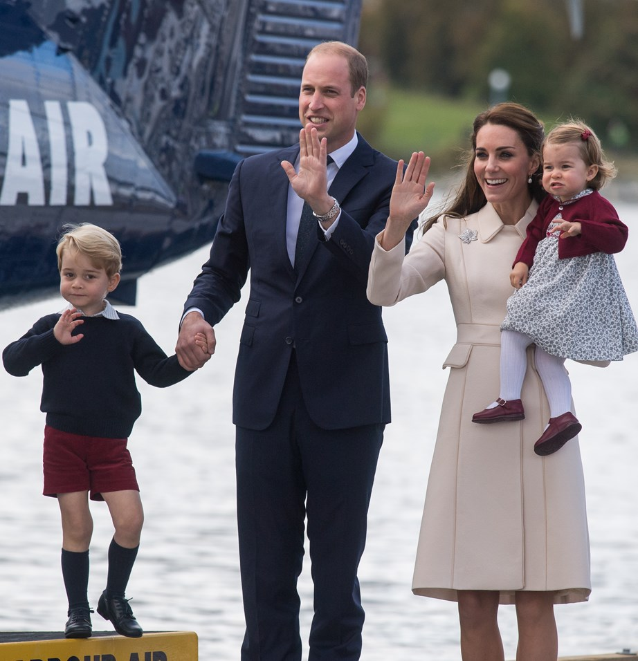 The royal family are picture perfect as they perform the Windsor wave together.