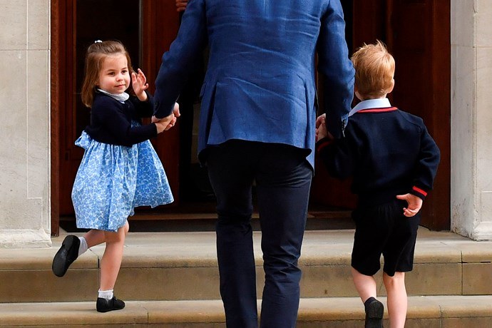 On her way to meet Prince Louis! *(Source: Getty)*
