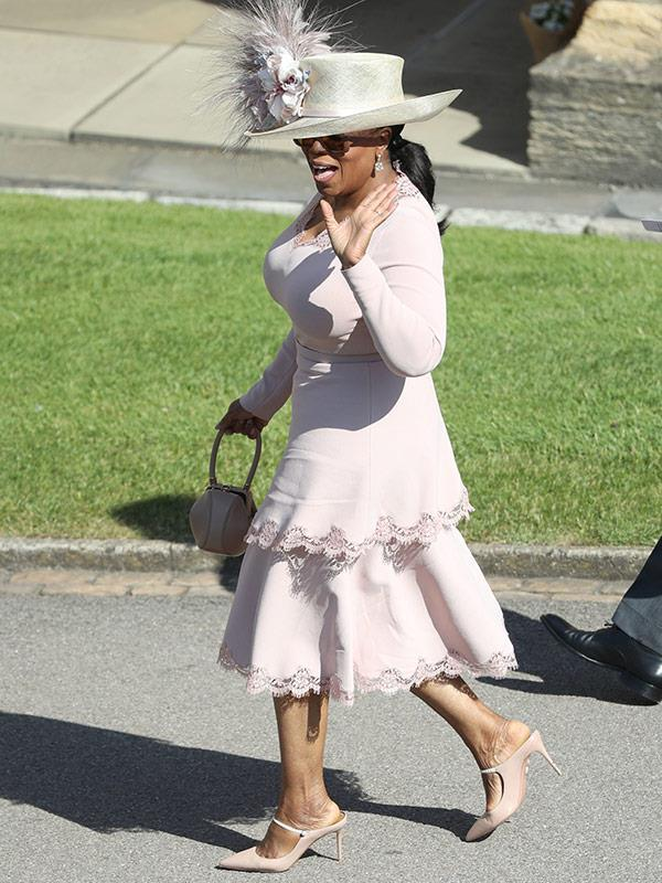 She's the Queen of the small screen and we just loved seeing Oprah try her hand at regal-inspired dressing in this pale pink Stella McCartney dress for the Royal Wedding in May.
