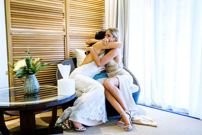 Brittany and Sophie console each other after *The Bachelor Australia* finale.