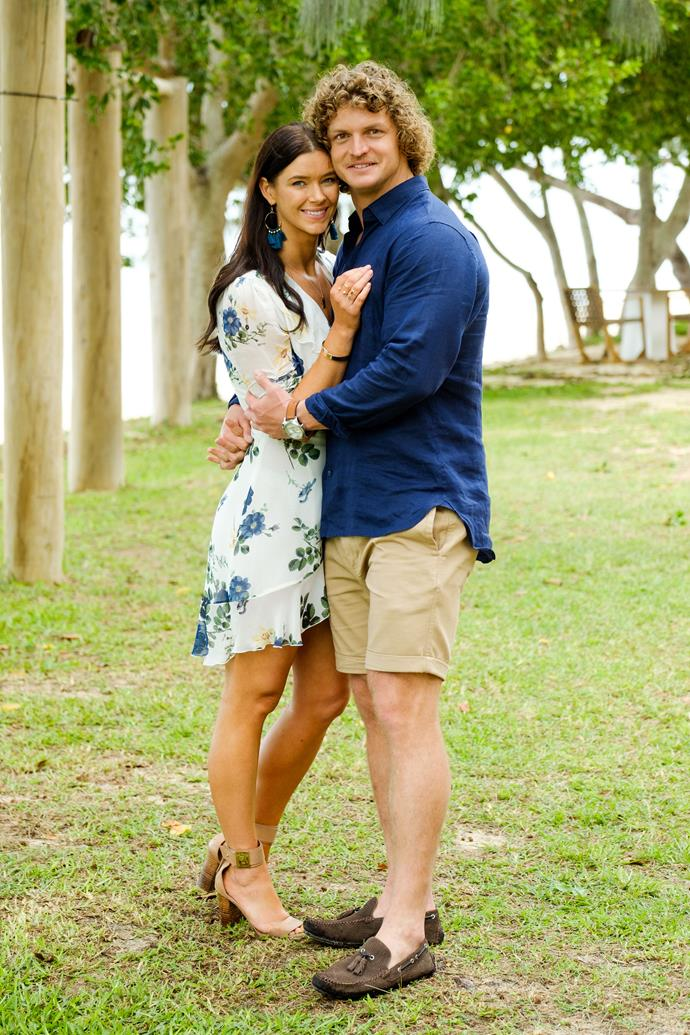 Brittany and Nick enjoy one final romantic date on *The Bachelor Australia.*