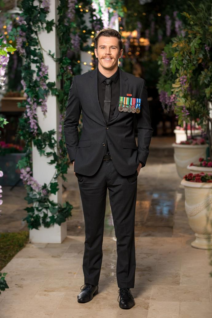 """**Jules, 24, Former Infantry Corporal, NSW** <br><br> *""""I've never had an adult girlfriend.""""* <br><br> Ali better be prepared to laugh with prankster Jules, who's just moved back to Oz following a stint in the army that saw him travel the Middle East. """"I know what you're thinking – but I've never killed anyone,"""" he tells *NW*. """"People always think that."""" <br><br> He adds, """"I haven't had an adult girlfriend. In my adult life, I've never been in a relationship."""" But while Jules is ready for love, Ali may not be The One – since he says he """"still needs to see the world and experience more cultures before I commit to the idea of children."""""""