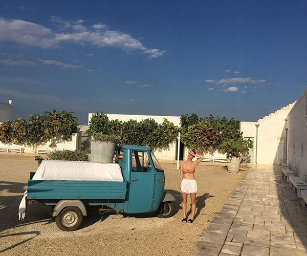 Taking in the enchanting settings of Masseria Potenti.