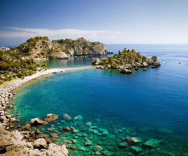 Isola bella in Taormina, Sicily.