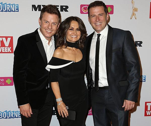 Ben at the 2014 Logie Awards with then *Today Show* hosts Lisa Wilkinson and Karl Stefanovic.