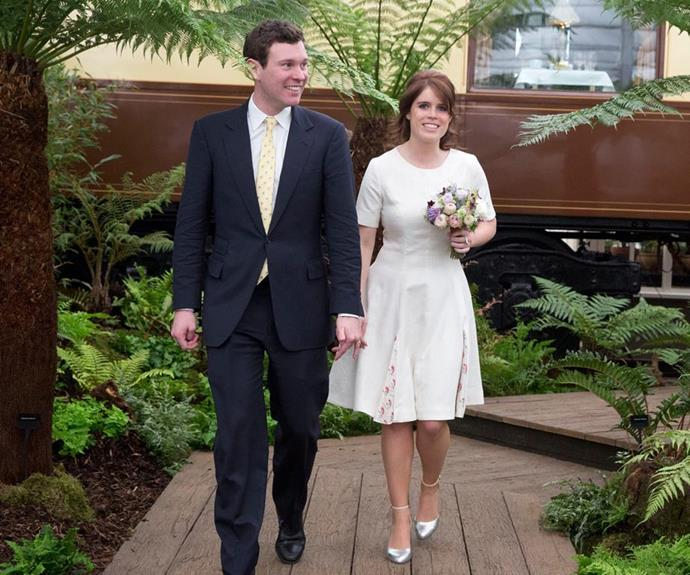 Princess Eugenie and Jack Brooksbank have been dating for seven years and announced their engagement in January.