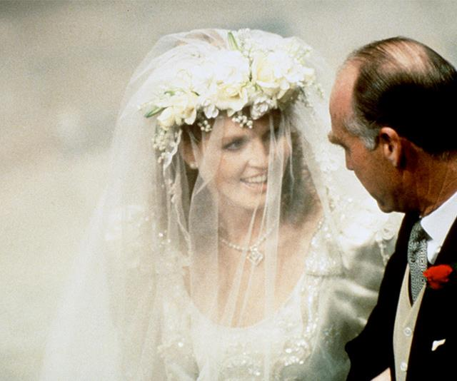 Sarah Ferguson was walked down the aisle by her Father, Major Ronald Ferguson. The song *Imperial March*, by Edward Elgar played as they proceeded.