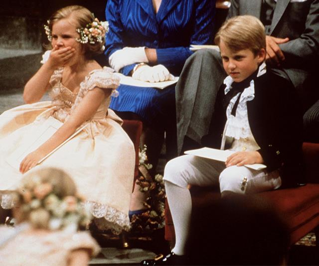 """Alice and Andrew Ferguson, the half-sister and half-brother of Sarah, set the bar for young [royal bridal party members to provide light entertainment](https://www.nowtolove.com.au/royals/british-royal-family/prince-harry-and-meghan-markle-reveal-bridal-party-48443