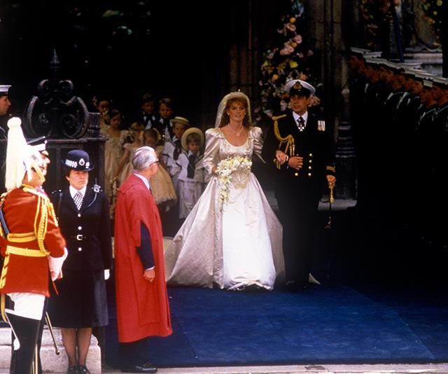 The royal couple were a sight to behold as they exited the church.
