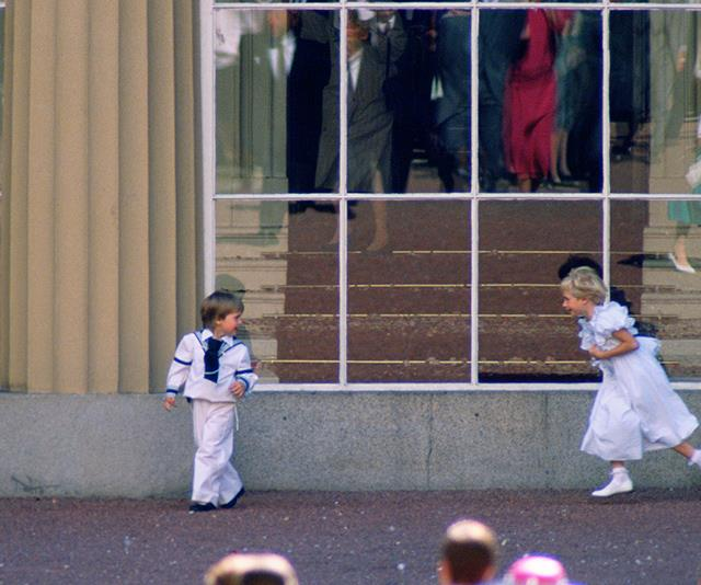 """Prince William was spotted playing around with the bridal party following the wedding. Now, his son Prince George is doing him proud being known for his [animated displays](https://www.nowtolove.com.au/royals/british-royal-family/prince-george-princess-charlotte-wedding-51398