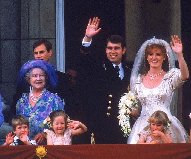 The traditional balcony pictures featured many familiar royal faces.