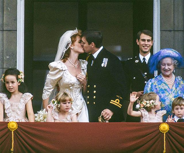 The classic kiss on balcony shot is a must-do at every royal wedding.