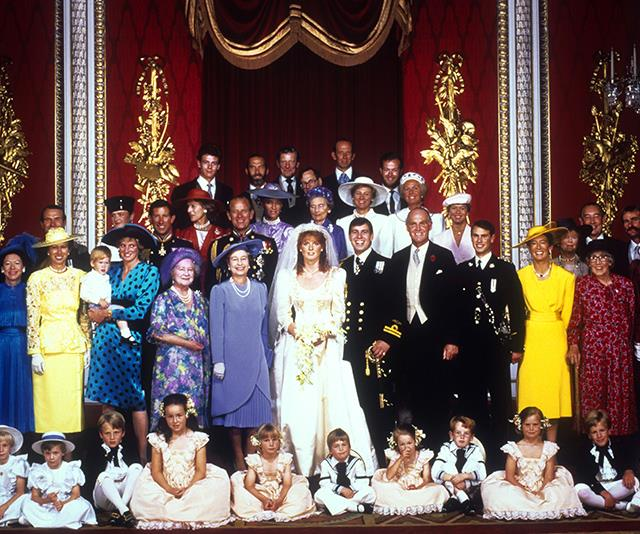 The royal family: Hats, A LOT  of colour, and puffy sleeves galore.