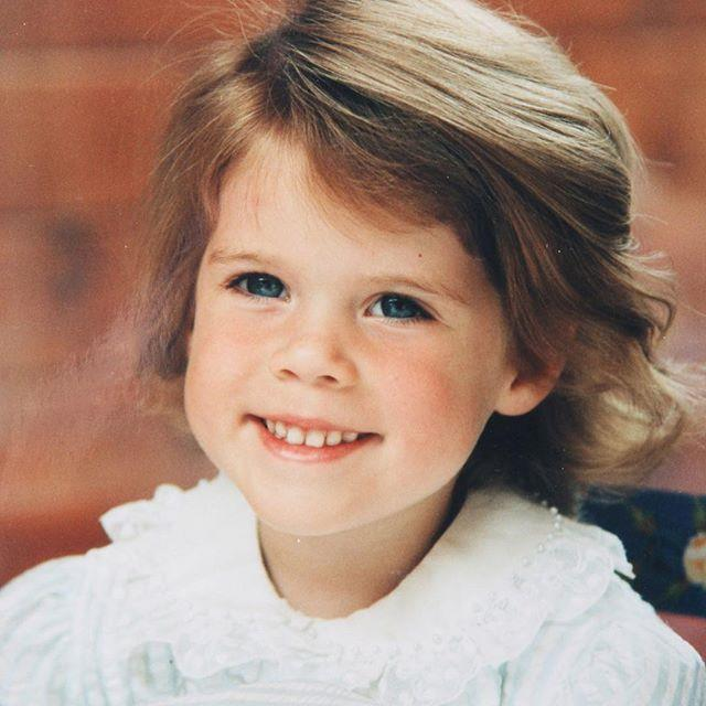 "Princess Eugenie looks sweet as pie in this never-before-seen pic. *Image: Instagram/[@theroyalfamily](https://www.instagram.com/theroyalfamily/|target=""_blank""