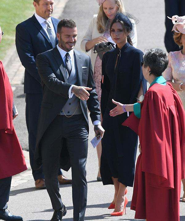 The Beckhams also attended Prince Harry and Duchess Meghan's wedding back in May. *(Image: Getty Images)*