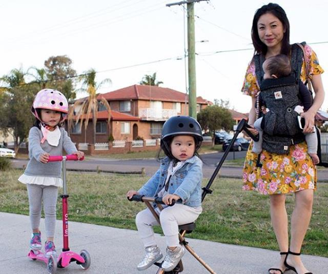 Mum of three, Jenny Ong doesn't want her children to feel the anxiety she has around water.