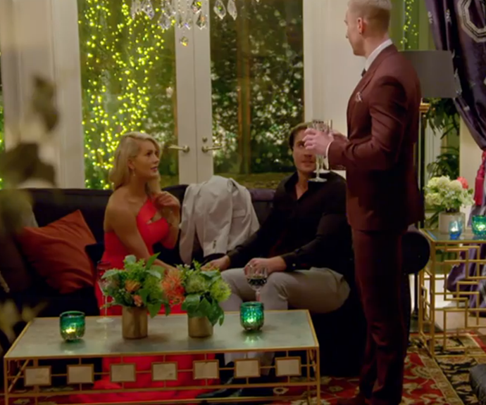 Paddy interrupted Nathan and Ali while they were chatting and it did not go down well. *(Image: Network Ten.)*