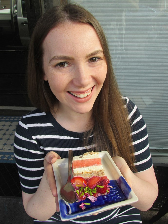 Brittany with the world most instagrammed cake!  **Photos exclusive to Take 5**