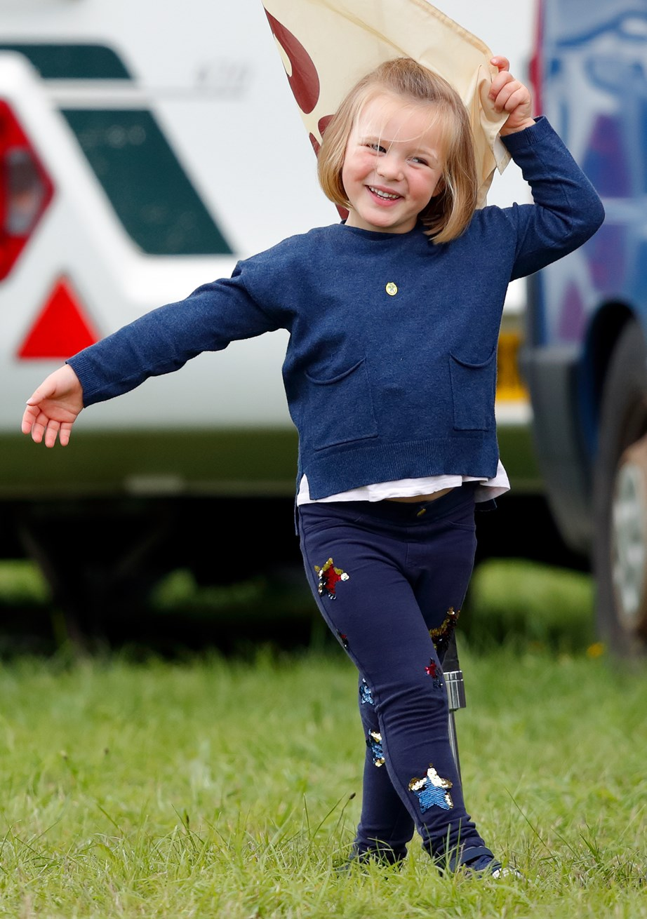 Mia Tindall looked super chummy with her cousins Prince George and Princess Charlotte. *(Image: Getty)*