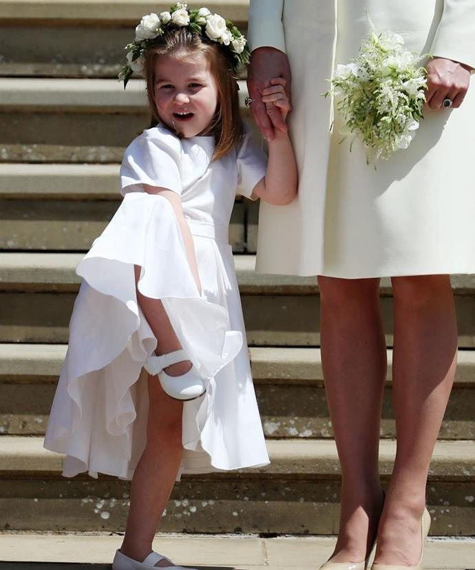 Princess Charlotte stole the hearts of royal fans at Harry and Meghan's wedding in May. *(Image: Getty Images)*