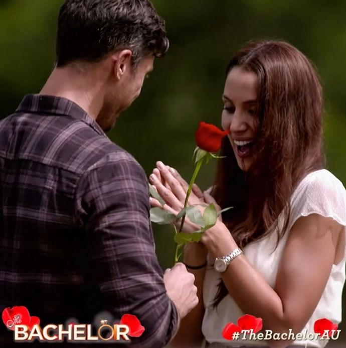 It was rose after rose for Snezana. *(Image: @bachelorau Instagram)*