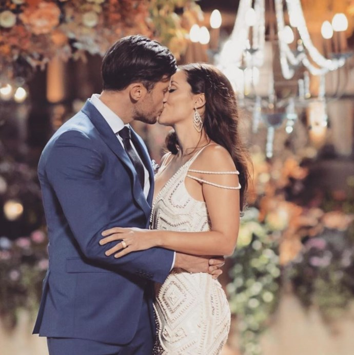 The pair confessed their love in 2015 on *The Bachelor Australia.* *(Image: @snezanawood Instagram)*