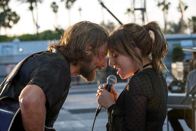 Country music star Jackson (Bradley Cooper) helps Ally (Lady Gaga) find her voice.