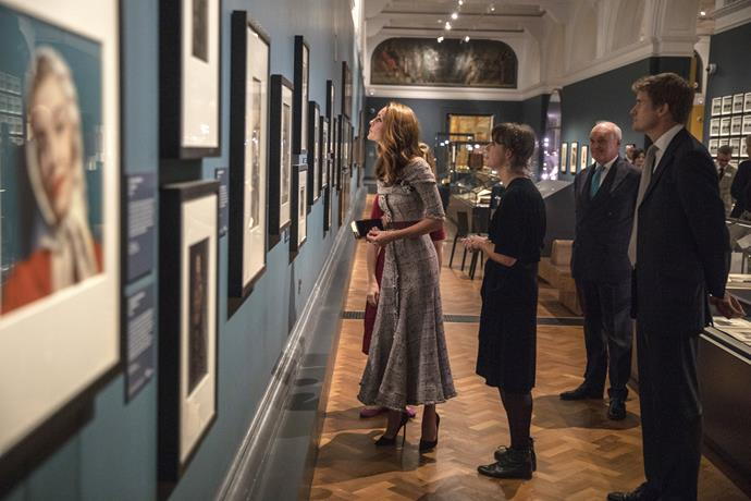 The 36-year-old Duchess toured the new centre's first exhibit.