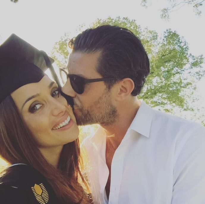 Before relocating to Melbourne, Snezana completed her Bachelor of Science degree in molecular genetics. And Sam couldn't be prouder of his brainy and beautiful lady.  *(Image: @samjameswood Instagram)*