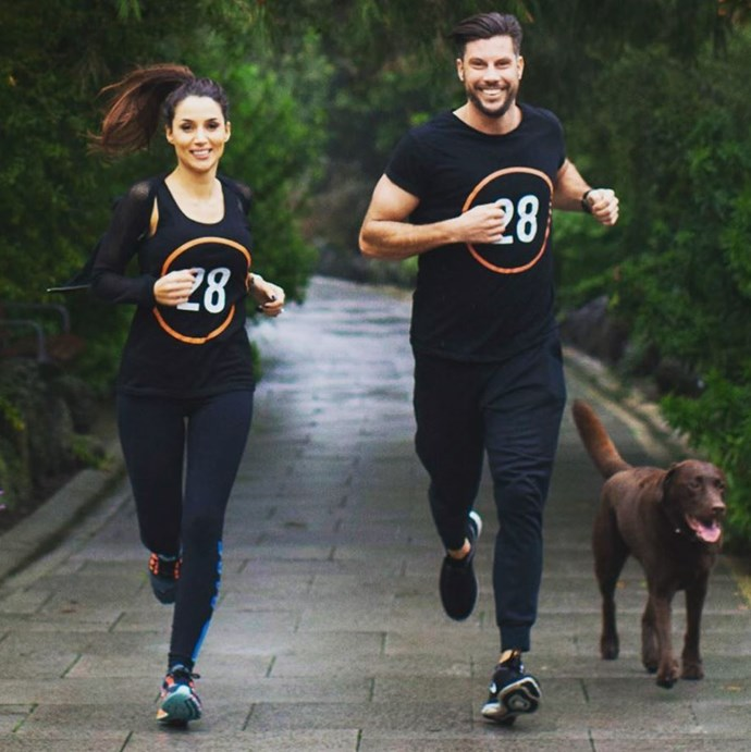 The couple that works out together, stays together. Being engaged to a PT has its perks!